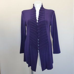 Chico's Travelers Size 2 Purple Cardigan Sweater